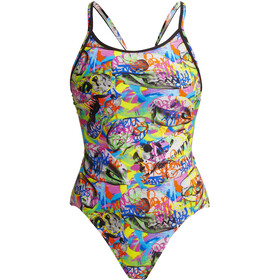 Funkita Diamond Back Badeanzug Damen fossil fuel
